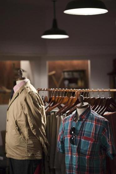 Designer clothes from Ball and Buck on Newbury Street.